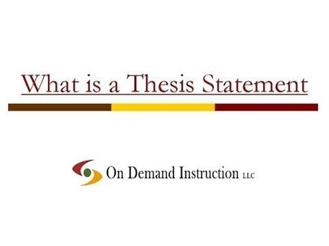 Thesis statement about leadership qualities